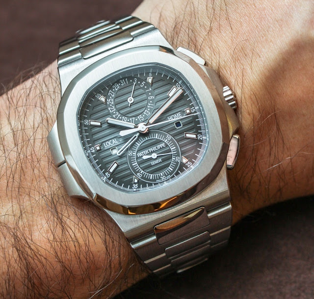 AAA Replicas De Relojes Patek Philippe Nautilus Travel Time Chronograph hombres 5990-1A-001 De http://www.replicas-relojes.es/!