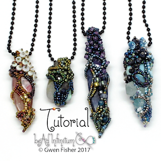 Fairy Chrysalis Beaded Pendants