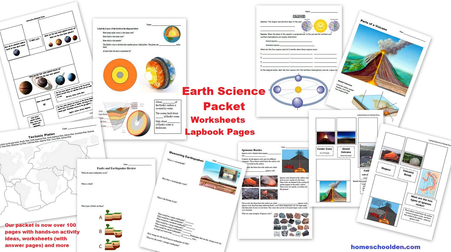 The Homeschool Den Earth Science Plate Movements