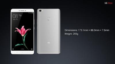 Xiaomi Mi Max thiết kế thời trang nổi bật