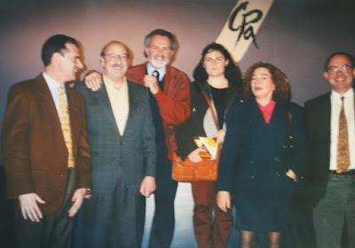 Escritores teverganos en el Club de Prensa en 1993