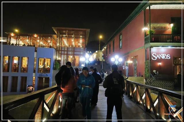 Ponte dos Suspiros, no bairro boêmio de Barranco em Lima