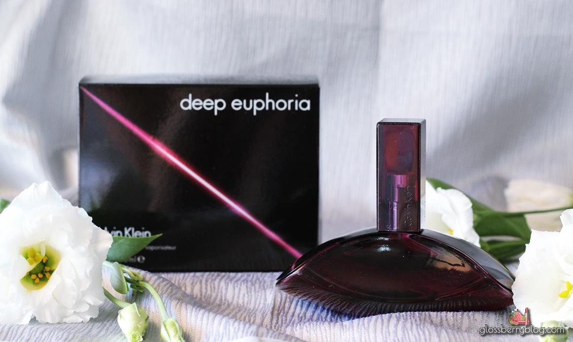 Calvin Klein - Deep Euphoria perfume review בושם קלווין קליין דיפ אופוריה גלוסברי בלוג איפור וטיפוח
