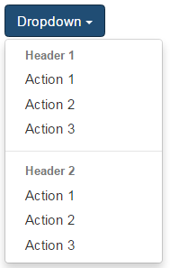 bootstrap dropdown menu divider