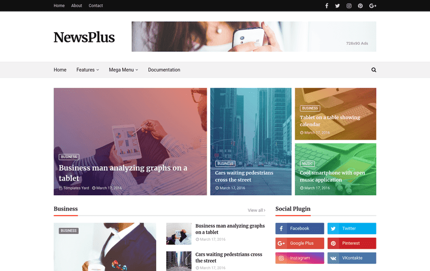 Newsplus is ane of the most unproblematic in addition to powerful magazine template for blogger Free Download Newsplus Blogger Template