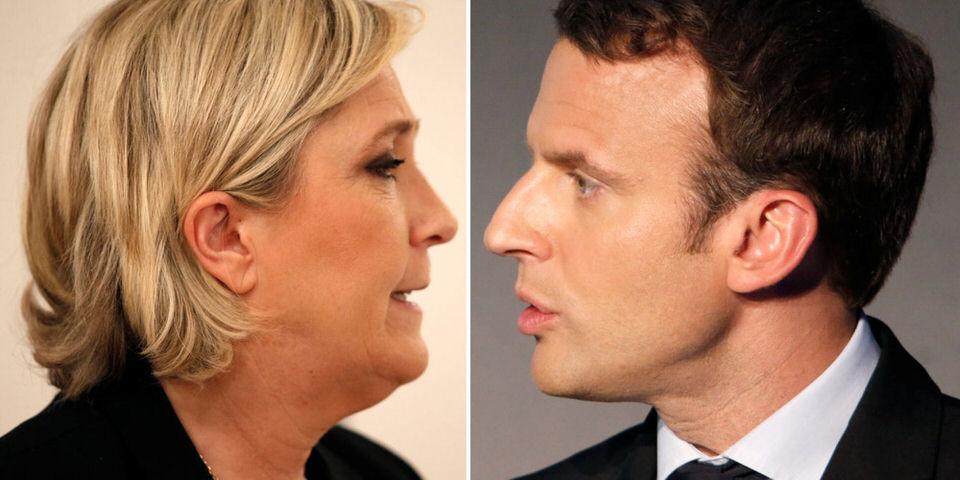 Η Μαρίν Λε Πεν και ο Εμανουέλ Μακρόν έχουν προχωρήσει στον δεύτερο γύρο των γαλλικών Προεδρικών εκλογών του 2017