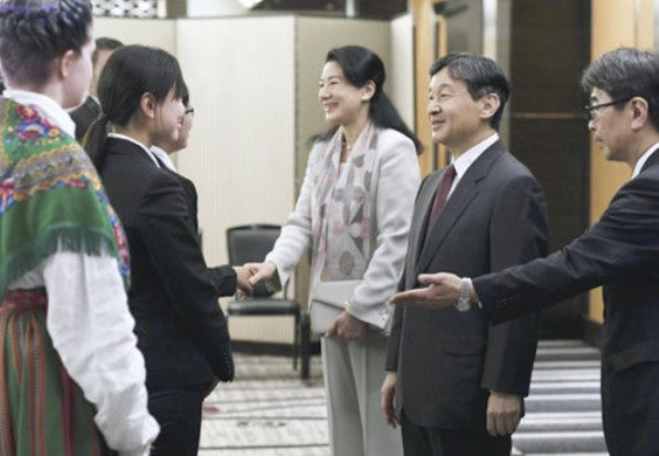 Crown Prince Naruhito and Crown Princess Masako observed the discussion summary presentation at the New Hotani Hotel in Tokyo