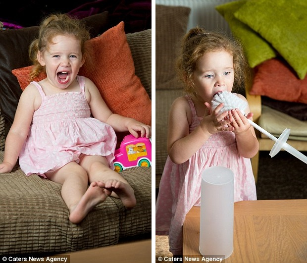 The toddler who eats bath mats, sponges and even TOILET BRUSHES