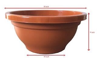 round plastic bonsai pots