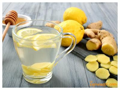 Resepi Air Detox Jus Lemon Halia