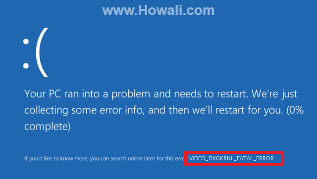 How to Fix VIDEO_DXGKRNL_FATAL_ERROR in Windows 10