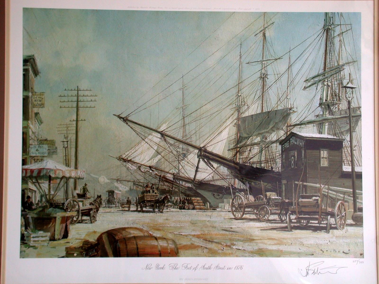 new york history geschichte john stobart new york harbour pictures. Black Bedroom Furniture Sets. Home Design Ideas