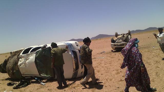 حادث مروري لسيارات النقل بين مدينة الزويرات الموريتانية ومخيمات اللاجئين الصحراويين