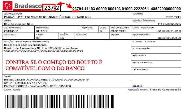 dd18c22f23 Se você vai pagar um boleto do Itaú, por exemplo, e aparecer o código ou  logo do Bradesco, o boleto é falso!