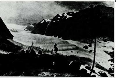 Glaciar Nigards en 1822