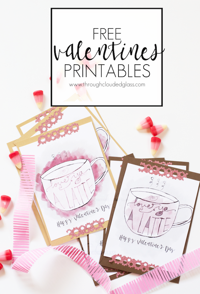 """Love Ya A Latte"" Valentine's Day Printables"