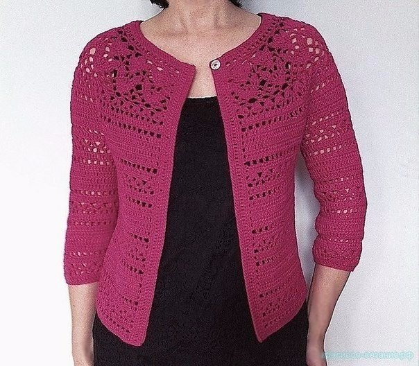 Free Crochet Pattern For Fall Winter Cardigan 2015 Vicky Chan