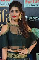 Ritika Singh in a Ethnic Deep Neck Dark Green Choli Ghagra at IIFA Utsavam Awards March 2017 ~ 006.JPG