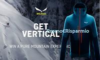 Logo ''Get Vertical winter 2018'' : vinci gratis 51 premi Salewa e 20 Esperienze in Montagna + Outfit