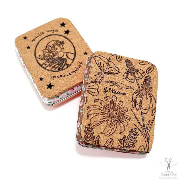 Burned Cork Gift Card Tins