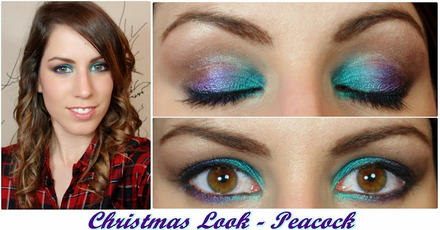 rubibeauty makeup look christmas peacock pavo real pigmentos