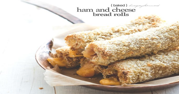 Ham And Cheese Bread Rolls (Baked) Recipe