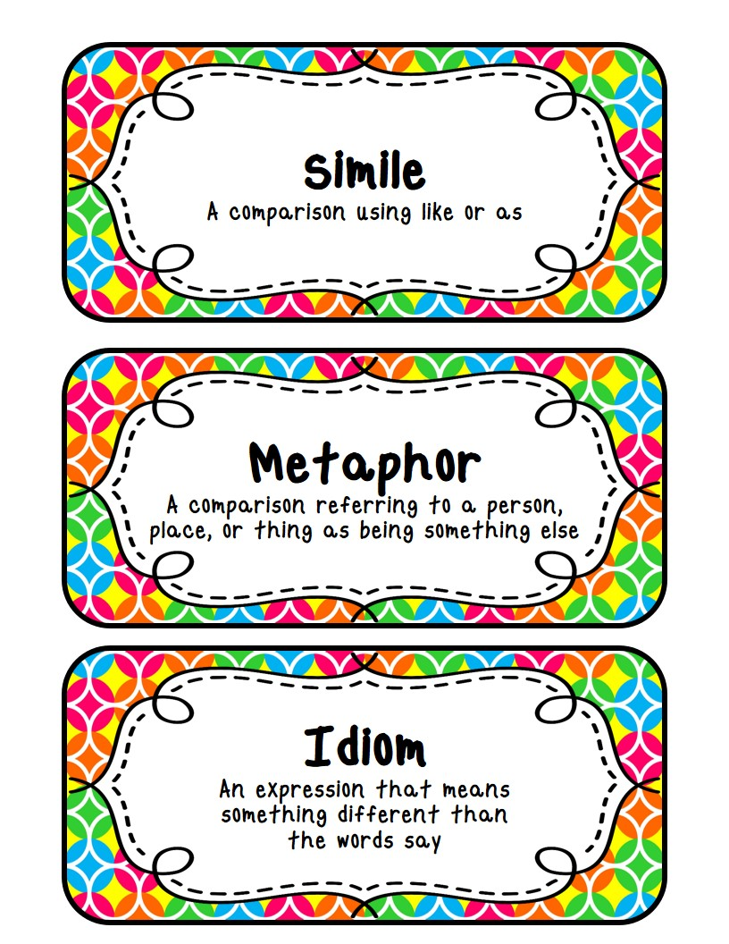 English teaching worksheets: Metaphor