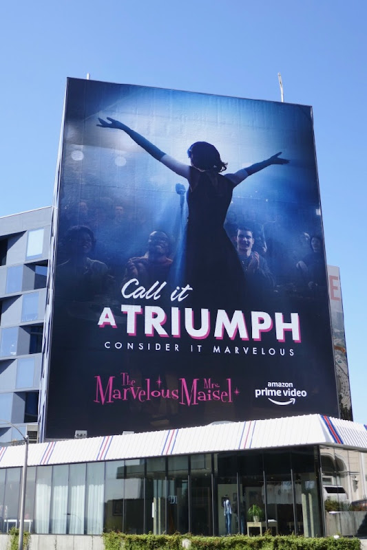 Mrs Maisel Call it a Triumph Emmy consideration billboard