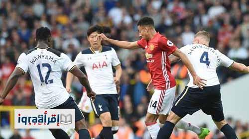 نتيجة مباراة توتنهام ومانشستر يونايتد اليوم 2 / 1 الأحد 14-5-2017 الدوري الإنجليزي