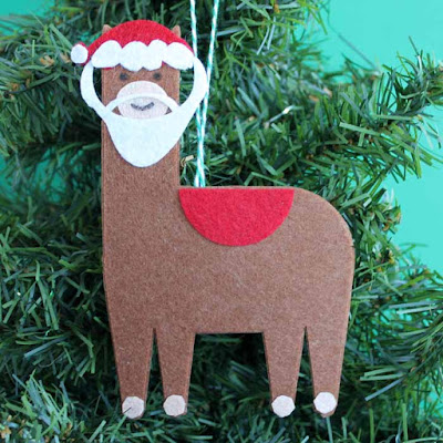 Santa claus christmas llama from Country chic cottage