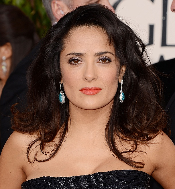 Salma Hayek - Celebrity Earrings Trend 2013