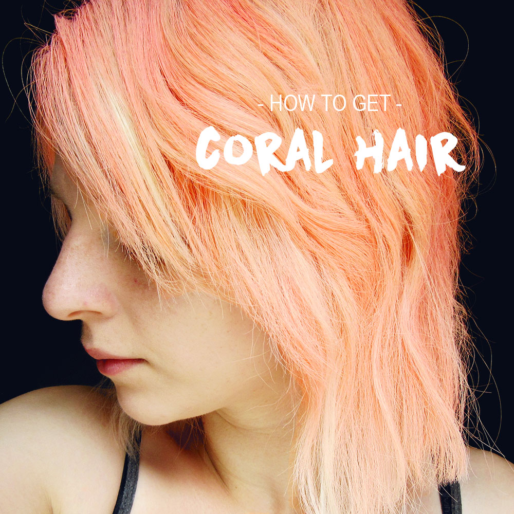 How To Pastel Coral Hair With Fudge Hair Art In Coral
