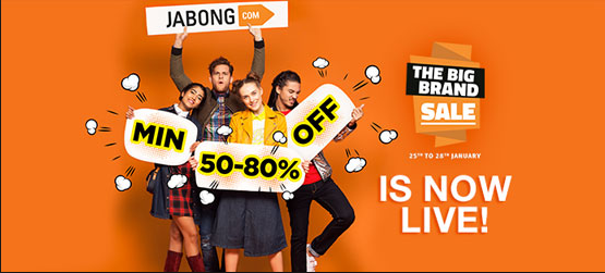 Jabong Big Brand Sale 2018