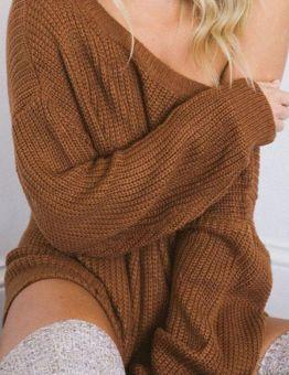 Basic Casual Winter Knittwear Sexy Sweater