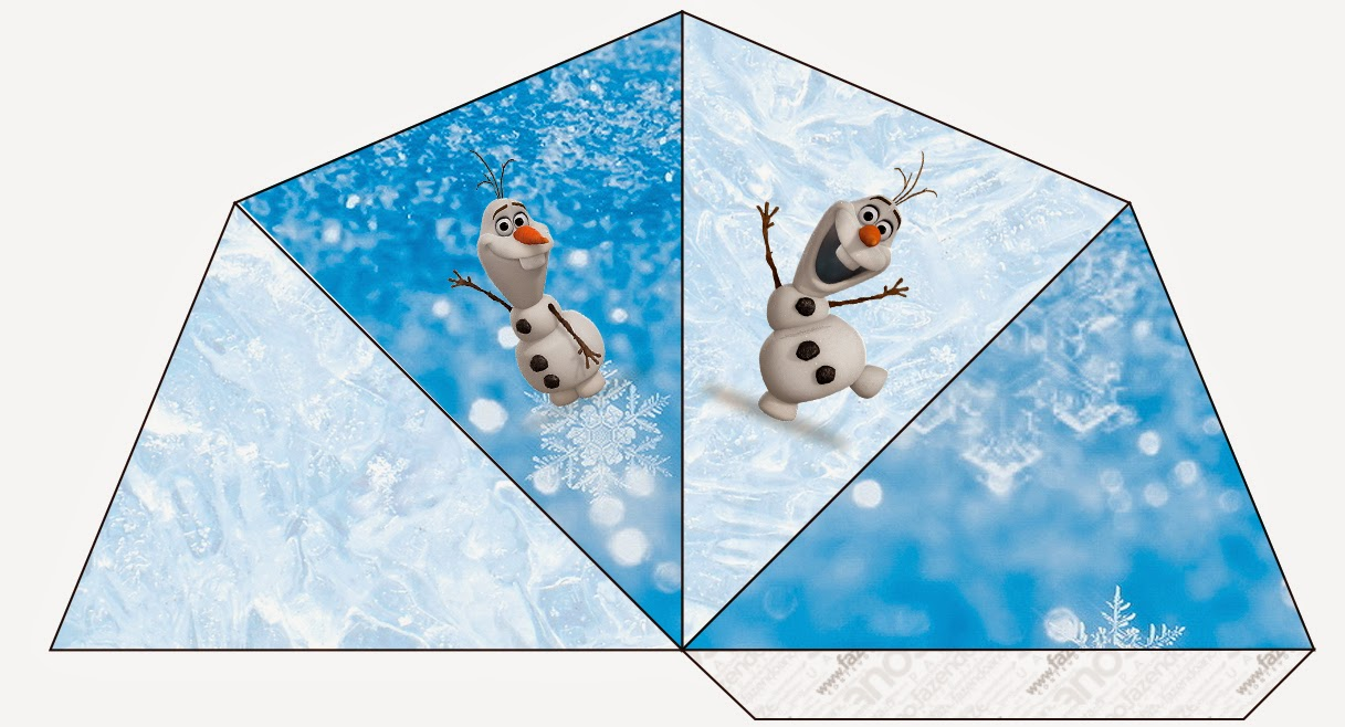 Olaf Free Printable Cones.