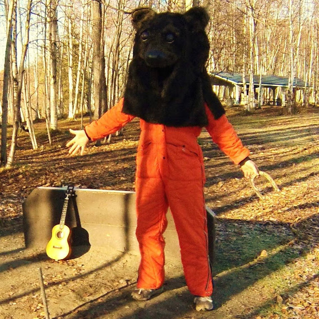 Ukulele Russ in bear suit