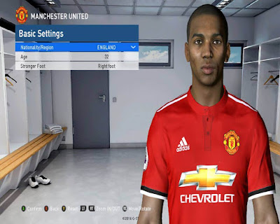 PES 2017 Ashley Young Face