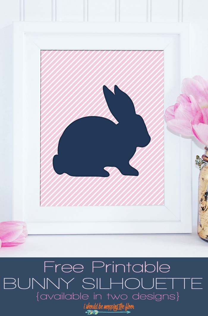 photograph about Free Printable Silhouettes titled Free of charge Printable Easter Bunny Silhouette i should really be mopping