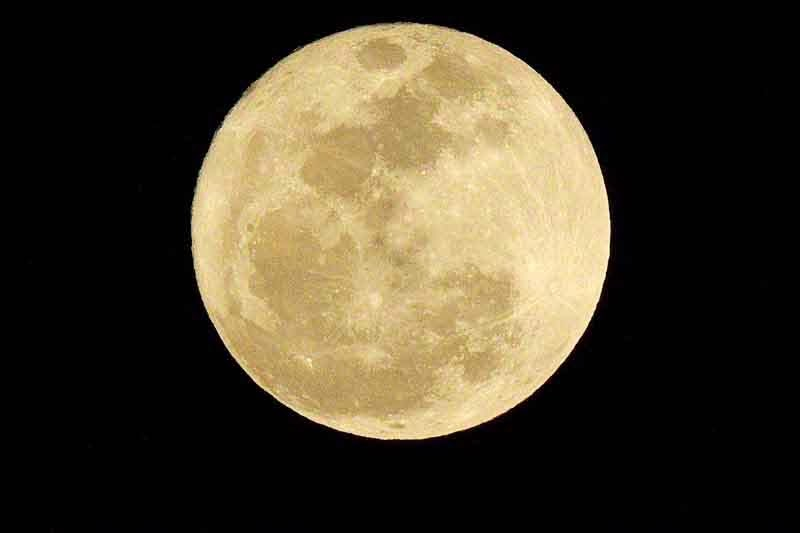 clear full moon
