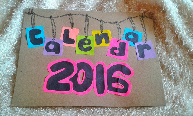 diy calendar, new year project