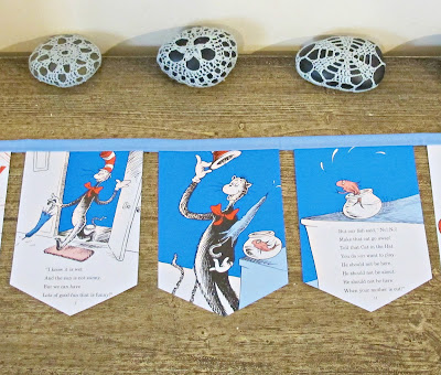 dr seuss bunting the cat in the hat domum vindemia nursery decor baby shower ideas kids birthday party