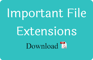 Important File Extensions PDF Download