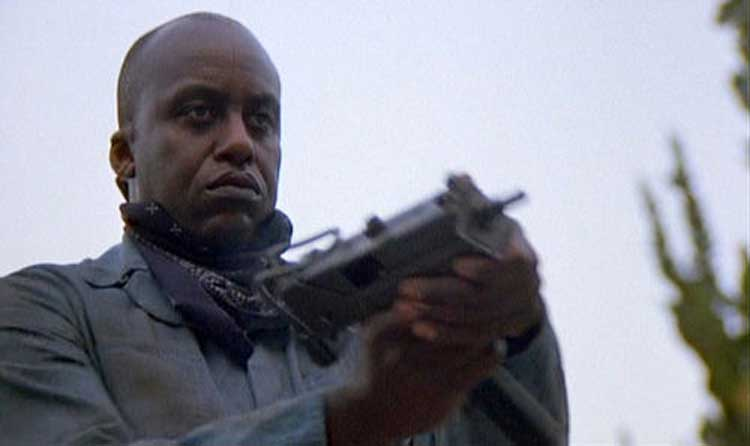 Bill Duke is all business in Predator.
