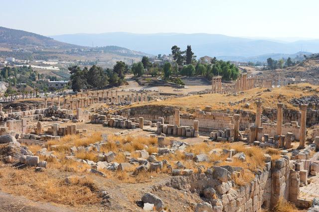 Vue sur les vestiges de Jérash
