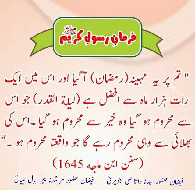 Lailatul Qadr Hadees In Hindi Urdu