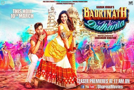 Badrinath Ki Dulhania, Badrinath Ki Dulhania Alia Bhatt, Badrinath Ki Dulhania Varun Dhawan, Badrinath Ki Dulhania poster
