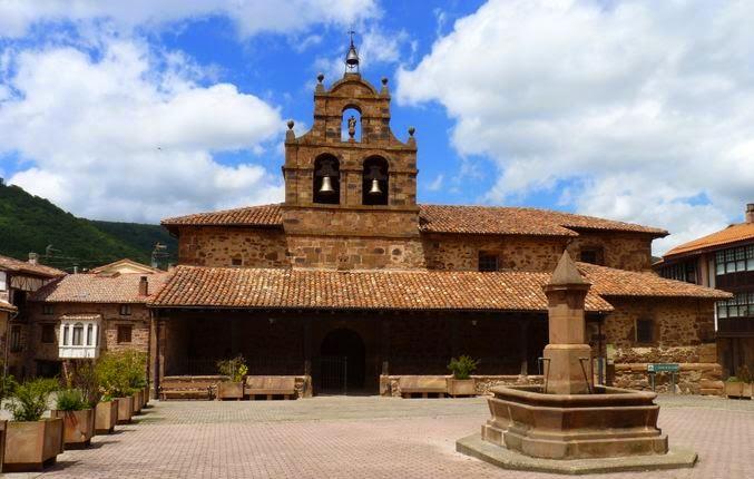 Iglesia de San Andrés Apóstol en Valgañón.