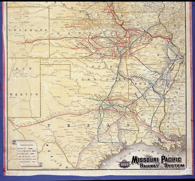 1888 missouri pacific railway map