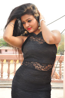 Actress Pentali Sen Stills in Black Lace Dress at Golmal Gullu Movie Pressmeet  0080.JPG