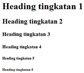 Belajar HTML Bagian 8 : Cara Membuat Heading di HTML 7